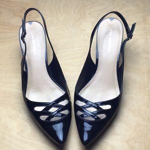 Patent Leather Kitten Heels